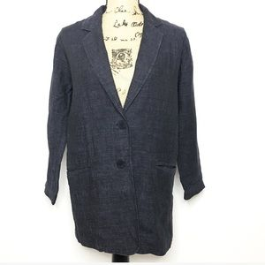 Eileen Fisher Dark Gray Linen Blazer